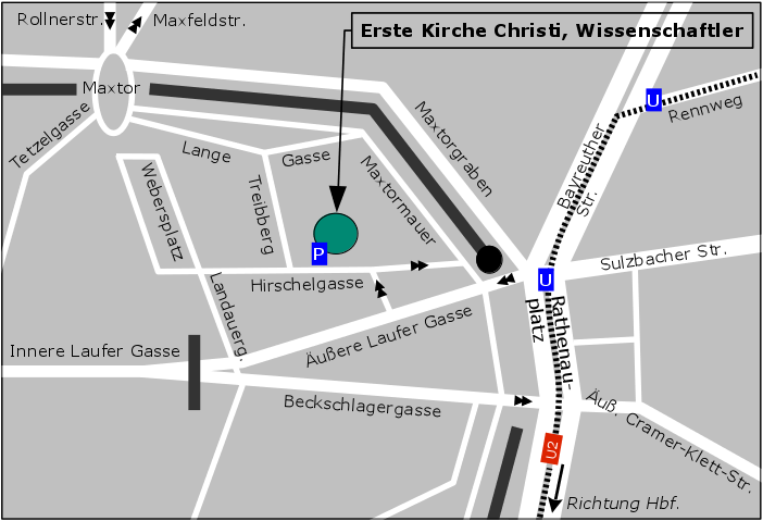Directions to First Church Nuremberg